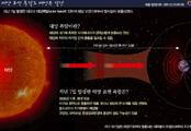 태양 표면 폭발로 태양풍 발생