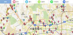 지도로 본 서울시 착한가격 음식점 784곳