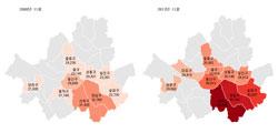 5년간 전셋값 변동 순위…서초구가 강남구 역전