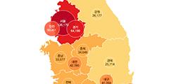상위10% 아파트값 평균 서울 13억6천-전남 2억5천만원